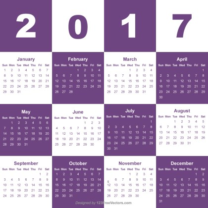 Free Download 2017 Calendar