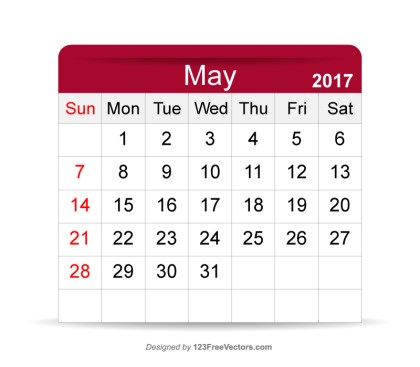 Editable Calendar May 2017