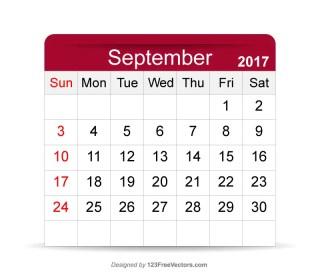 September 2017 Printable Calendar