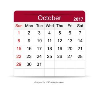 Printable Calendar October 2017