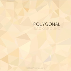 Polygonal Triangular Beige Background Clip Art
