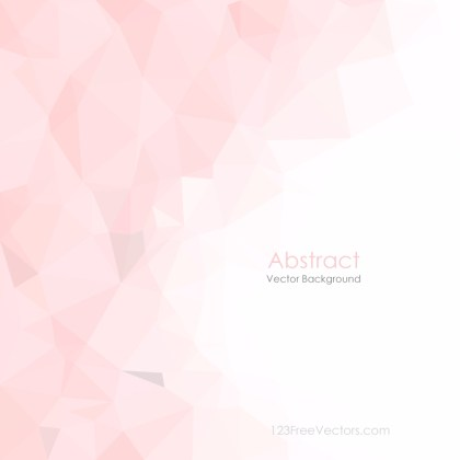Light Pink Abstract Polygonal Pattern Background Illustrator