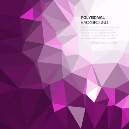 Dark Purple Polygonal Background Design
