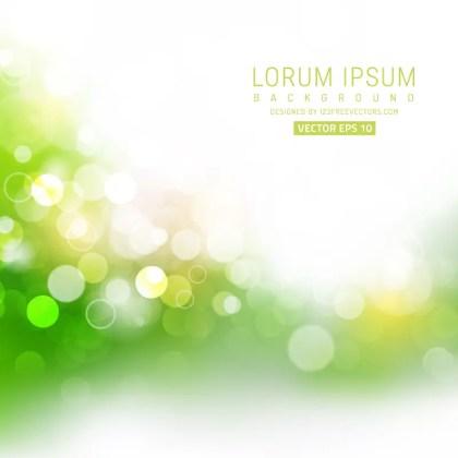 Vector Light Green Bokeh Background Image