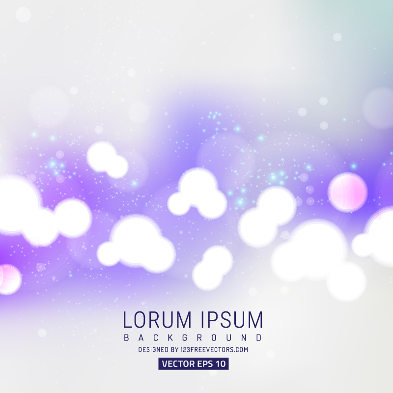 Vector Light Purple Bokeh Background Image