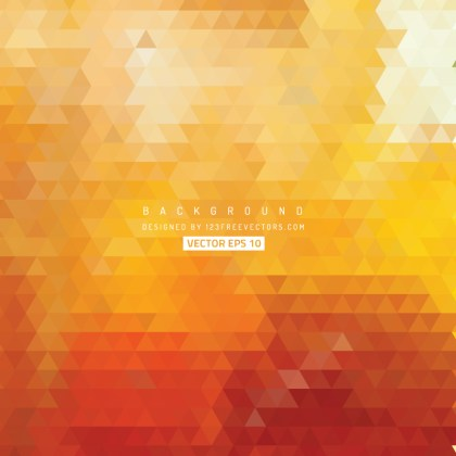 Orange Triangle Background Free