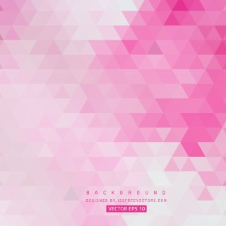Pink Abstract Triangle Background Design