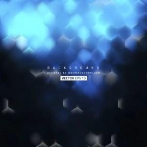 Blue Black Hexagon Background