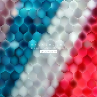 Colorful Hexagon Background Pattern