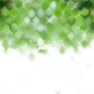 White Green Hexagonal Background Design