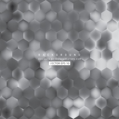 Abstract Dark Gray Hexagon Geometric Background