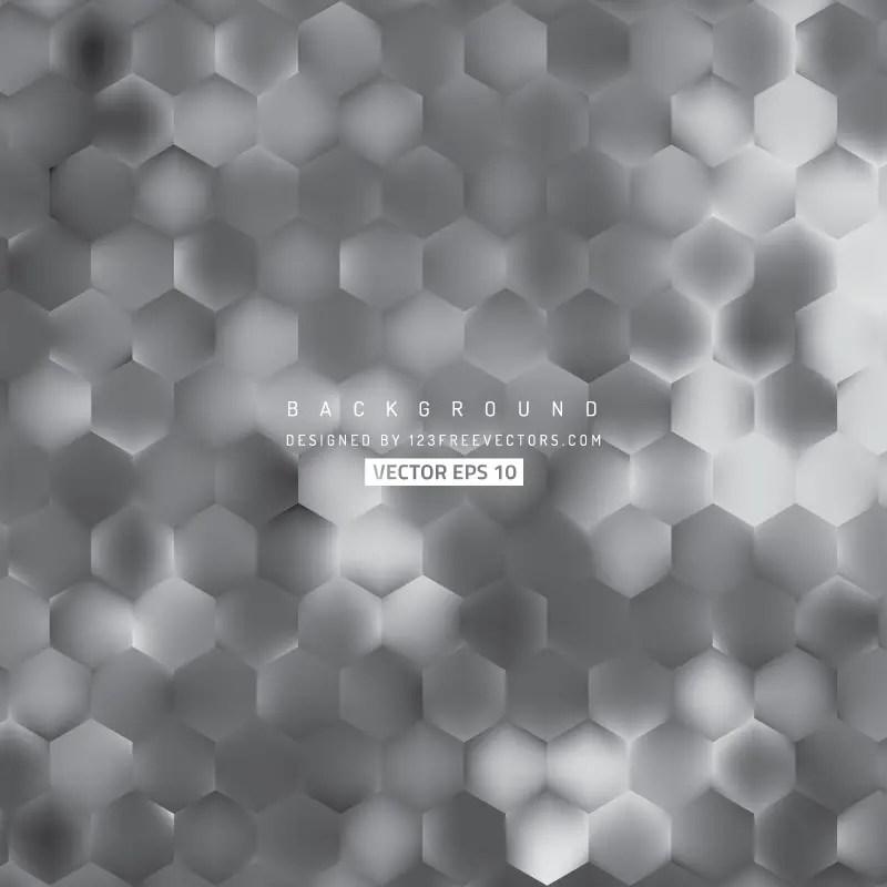 Abstract Dark Gray Hexagon Geometric Background