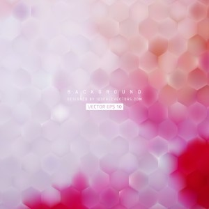 Abstract Light Pink Hexagon Background Pattern