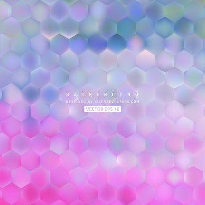 Abstract Blue Purple Hexagon Background