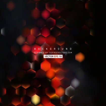 Abstract Red Black Hexagon Background Pattern