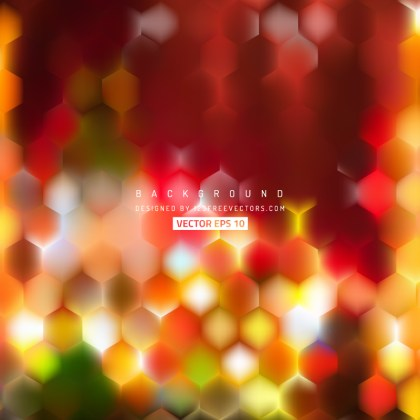 Abstract Red Yellow Hexagonal Background Design