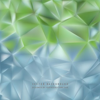 Abstract Blue Green Polygon Background Template