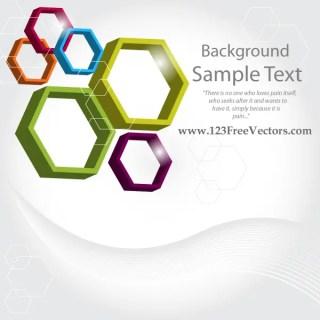Abstract 3d Hexagon Vector Background