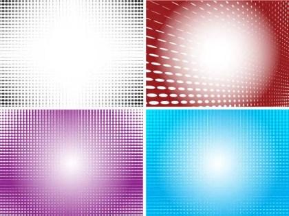 Color Halftone Illustrator Vector Backgrounds