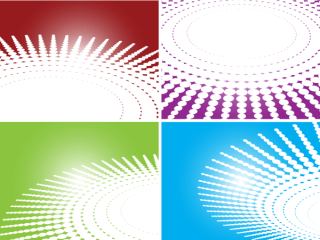 Circle Halftone Pattern Vector Backgrounds