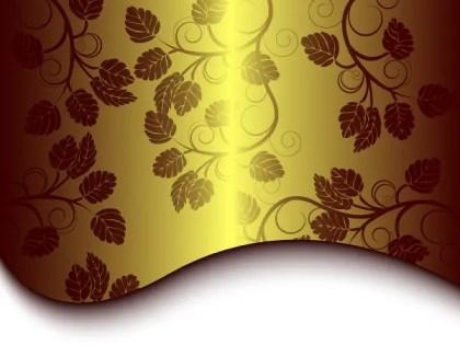 Free Golden Floral Background Vector
