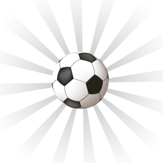 Sunburst Background with Soccer Ball Vector