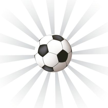 Sunburst Background with Soccer Ball Vector