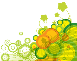 Abstract Green Bubbles Vector Background