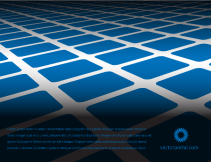 Abstract Blue Tiles Vector Background Free