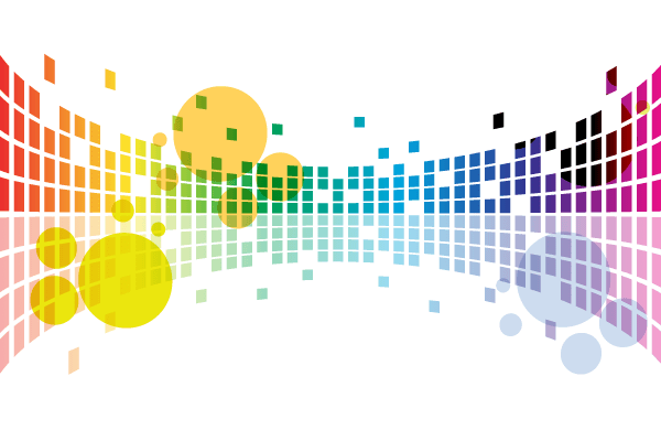 Abstract Tiles Background Vector Graphics