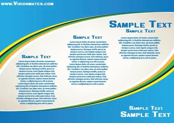 Business Blue Card Print Design Vector