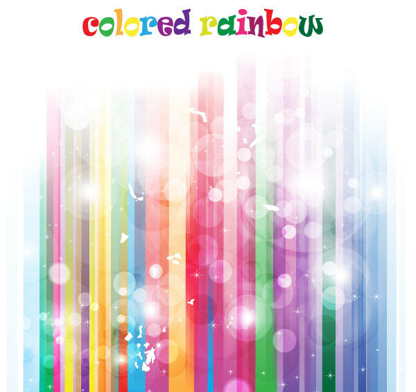 Colorful Abstract Rainbow Vector Background