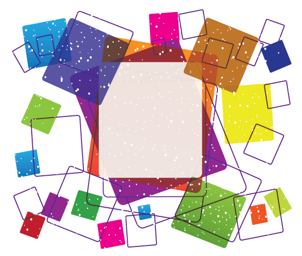 Vector Colorful Square Frame Free Design