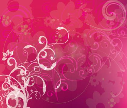 Free Pink Background with Swirls Vector Design