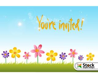 Flower Invitation Background Vector Free
