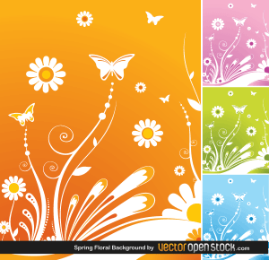 Free Vector Spring Flower Background