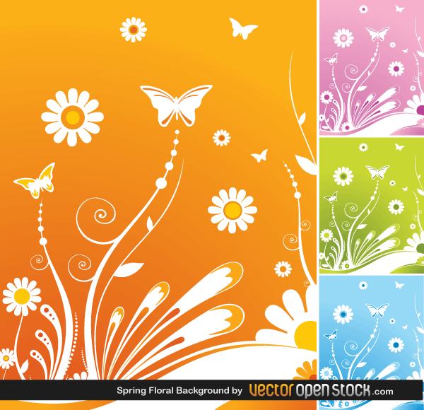 Free Vector Spring Flower Background