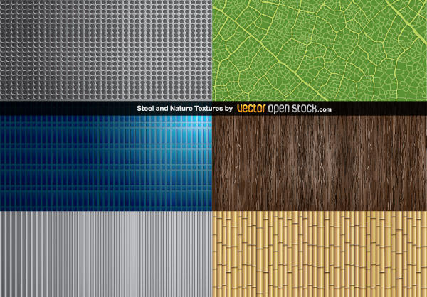 Steel and Nature Textures Free Vector