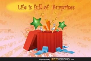 Surprise Present Box Vector Free