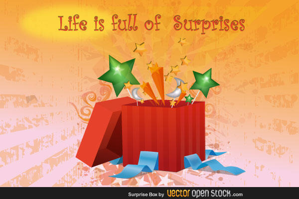 Surprise Present Box Vector Free