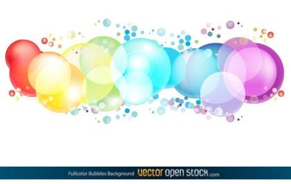 Free Colorful Circles Background