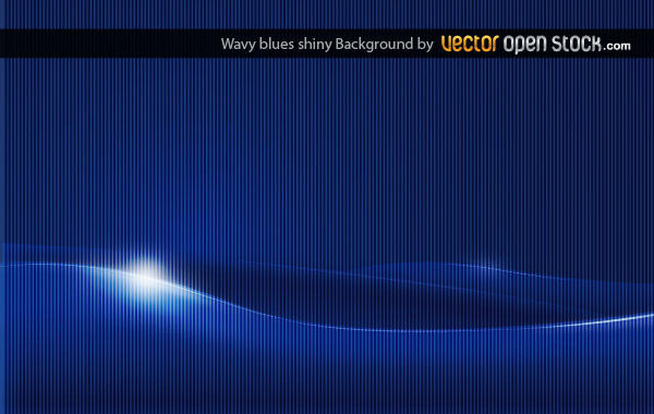 Abstract Wavy Shiny Blue Background Vector Image