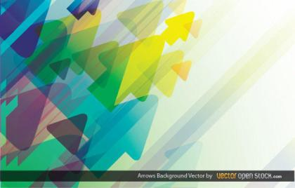 Abstract Colorful Arrows Background Vector Illustration