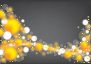 Yellow and White Bubbles Background Vector Free