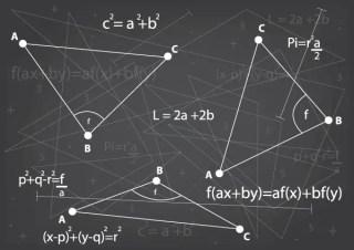 Mathematics Background Vector Art Free