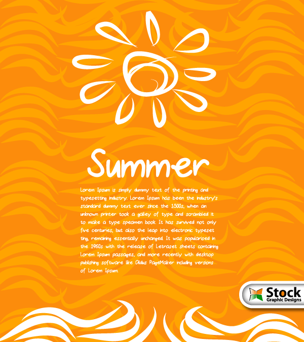 Free Summer Vector Background