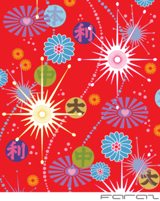 Free Asian Pop Vector Background