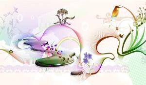 Abstract Spring Background Vector Free
