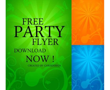 Free Party Flyer Background Vector