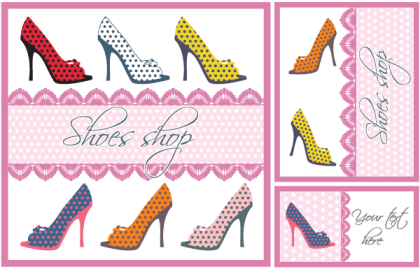 Shoes Vector Card Design